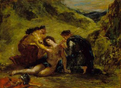 Eugène Delacroix, 'St. Sebastian with St. Irene and Attendant', 1858