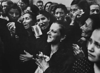 Robert Capa, 'Women crying at funeral of twenty teenaged partisans. Naples, Italy. ', 1943