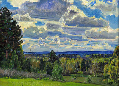 German Alexeevich Tatarinov, 'Spring Clouds #50', ca. 1990