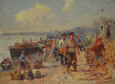 Aleksandr Nikiforovich Chervonenko, 'Unloading the boats', 1952