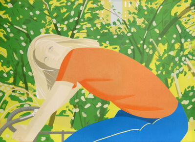 Alex Katz, 'Bicycling in Central Park from the New York, New York Portfolio', 1982