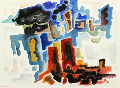 Emil Bisttram, 'Abstract Canyon', 1958