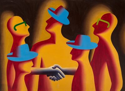 Mark Kostabi, 'Merger', 1987