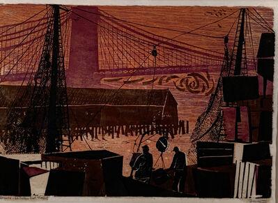 Antonio Frasconi, 'SUNRISE - OLD FULTON FISH MARKET', 1953