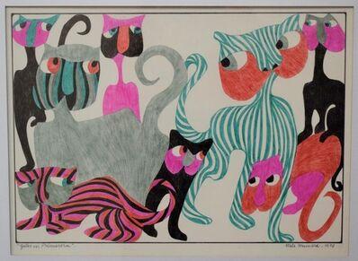 MELE BRUNIARD, 'Gatos en primavera', 1973