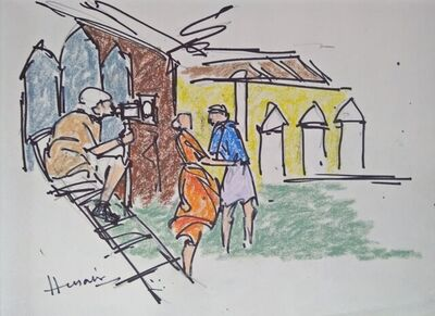 """M. F. Husain, 'Untitled, Mixed Media on Paper by Modern Indian Artist """"In Stock""""', 1990-2009"""