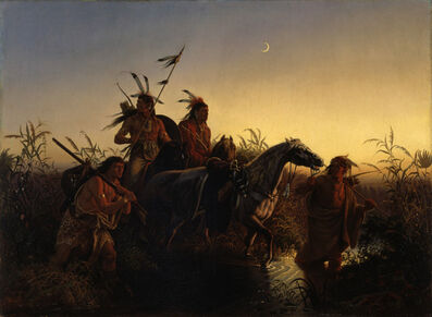 Charles Ferdinand Wimar, 'The Captive Charger', 1854