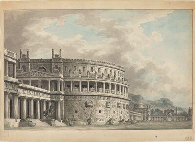 Giuseppe Borsato, 'Architectural Fantasy of a Magnificent Ancient Mausoleum', 1810/1820