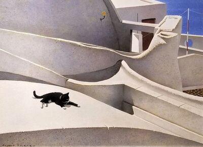 Robert Remsen Vickrey, 'Santorini Cat', ca. 1970