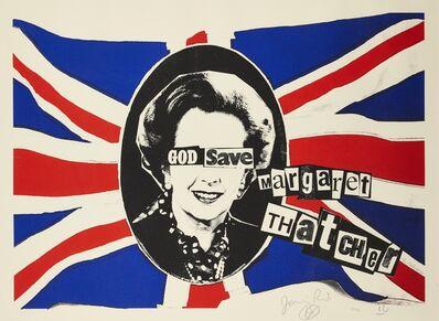 Billy Childish, 'God Save Margaret Thatcher', 2015