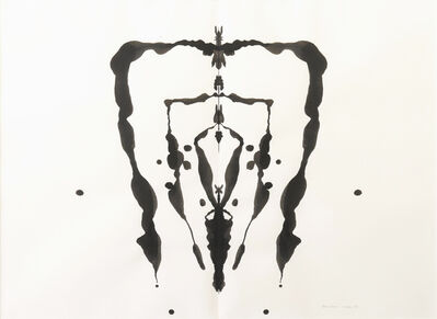 Bruce Conner, 'INKBLOT DRAWING, OCTOBER, 1991', 1991