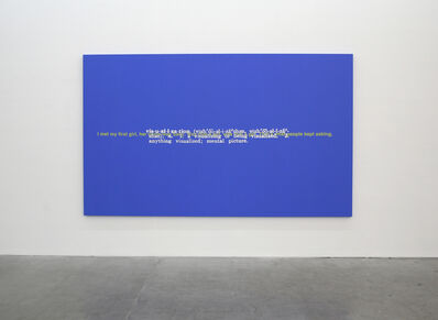 Stefan Brüggemann, 'Untitled (Joke and Definition Paintings)', 2011