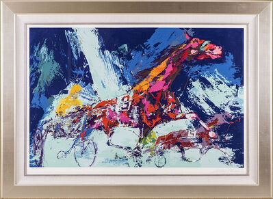 LeRoy Neiman, 'Trotters Horse Racing', 1973