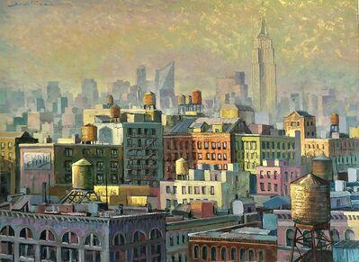 Juan del Pozo, 'NY Water Tanks - contemporary city landscape', 2020