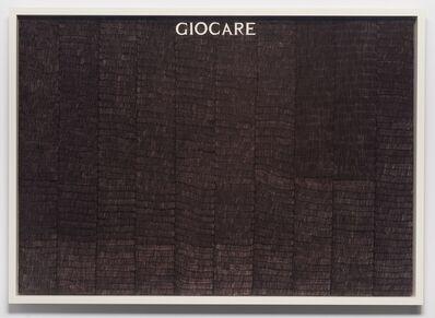 Alighiero Boetti, 'Giocare', 1978