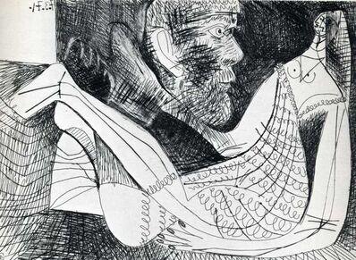 Pablo Picasso, 'Peintre et modèle an robe tricotée', 1971