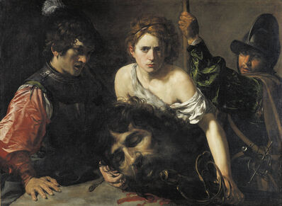 Valentin de Boulogne, 'David with the Head of Goliath and two Soliders', ca. 1615