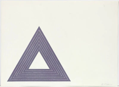 Frank Stella, 'Leo Castelli (from the Purple Series)', 1972