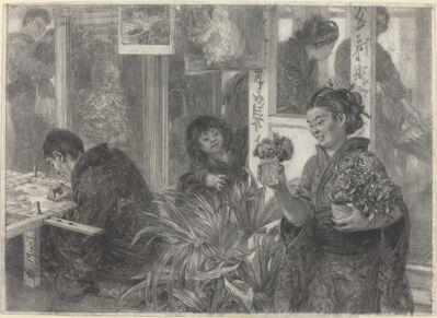 Adolph Menzel, 'Japanese Artist at Work', 1886