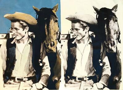 Steve Kaufman, 'DOUBLE JAMES DEAN - THE COWBOY', 2001-2007