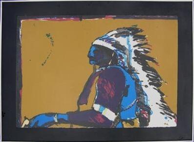 Fritz Scholder, 'Indian with Pistol', 1978