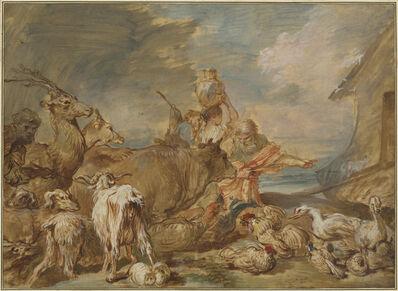 Giovanni Benedetto Castiglione, 'Noah Leading the Animals into the Ark', ca. 1655