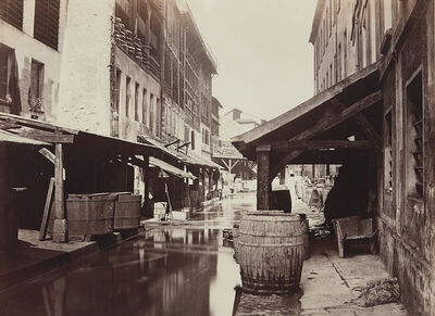Charles Marville, 'La Bievre (de la rue du Pont-aux-biches)', ca. 1862