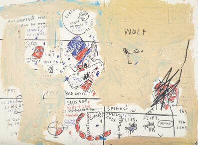 After Jean-Michel Basquiat, 'Wolf Sausage'