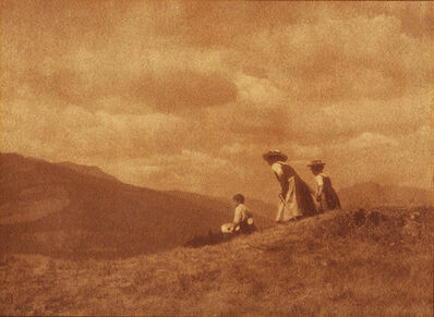 Heinrich Kühn, 'Children on the Hill', ca. 1908