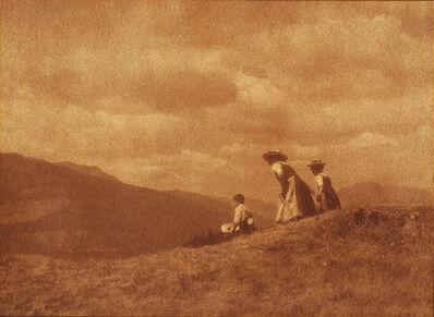 Heinrich Kühn, 'Children on the Hill', ca. 1908