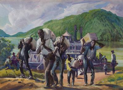 Frank Wilcox, 'Stevadores, Ohio River', ca. 1920
