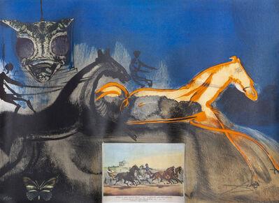 Salvador Dalí, 'American Trotting Horses No. 2', 1971