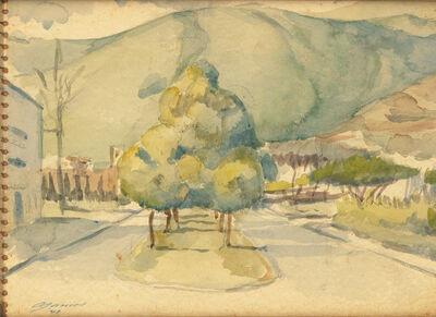 Armando Barrios, 'Boceto paisaje Altamira', 1947