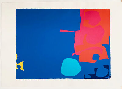 Patrick Heron, 'Interlocking Pink and Vermillion with Blue', 1970