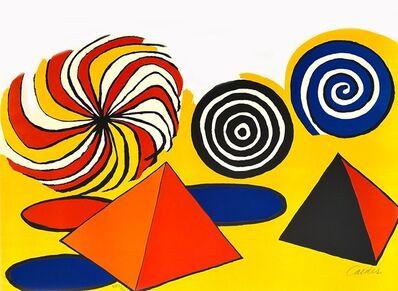 "Alexander Calder, 'Original Hand Signed and Numbered Color Lithograph ""Pinwheels and Pyramids"" by Alexander Calder', ca. 1970"