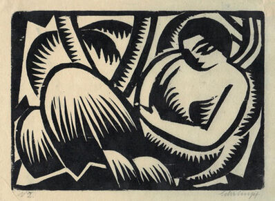 Georg Gerhard Schrimpf, 'Ruhende Frau I (Reclyning figure)', 1917