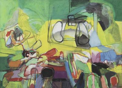 Gisèle Van Lange, 'Composition (paysage jaune vert) ', 1967