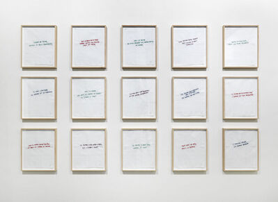 Annette Messager, 'Ma collection de proverbes', 1974-2012