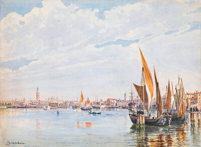 Antonietta Brandeis, 'Sailboats in the lagoon of Venice', ca. 1890