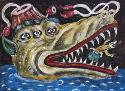 Heri Dono, 'Crocodile that Protects Their Children', 2017