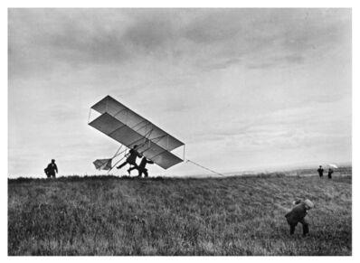 Jacques Henri Lartigue, 'Le Zyx 24 s'envole... Dédé et Robert essaient de s'envoler aussi. Rouzat,', 1910