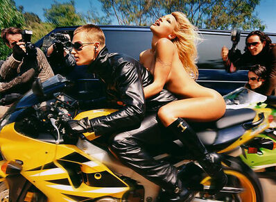 David LaChapelle, 'Pamela Anderson on Motorcycle, Iceberg, Los Angeles', 2001