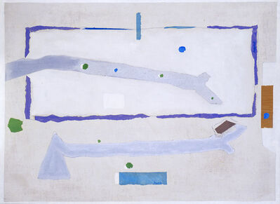 David Hare, 'Water Map (Silver Eclipse)', 1977