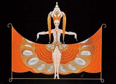 Erté (Romain de Tirtoff), 'The Hindu Princess', 1987