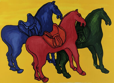 Malcolm Morley, 'Ancient Chinese Horses (Edition for Parkett 52)', 1998
