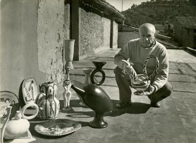 Louis Foucherand, 'Picasso et ses céramiques à Vallauris', ca. 1952