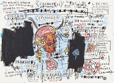 Jean-Michel Basquiat, 'Leeches', 1982-1983/2017