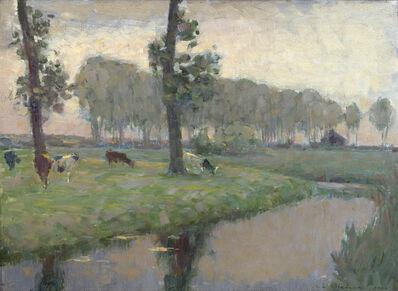 Henri Eugène Le Sidaner, 'La Prairie Au Bord De L'eau', 1896
