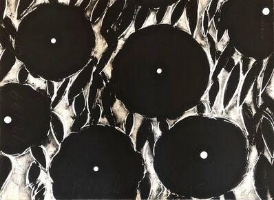 Donald Sultan, 'Black Flowers, Oct 12, 1996', 1996