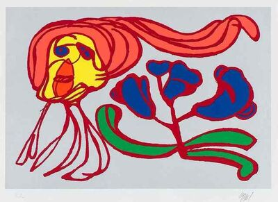 Karel Appel, 'Floating Flower Passion (Silver)', 1978-1979